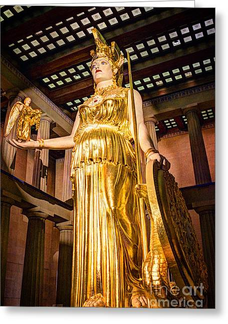 Nike Photographs Greeting Cards - Athena Greeting Card by Bob Hislop