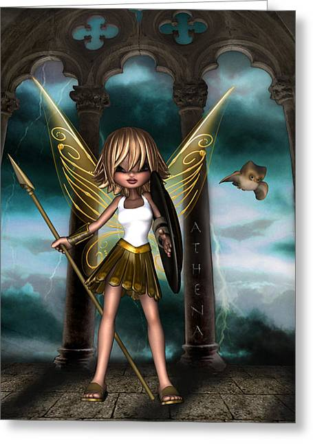 Athena Greeting Card by Kelly Lough