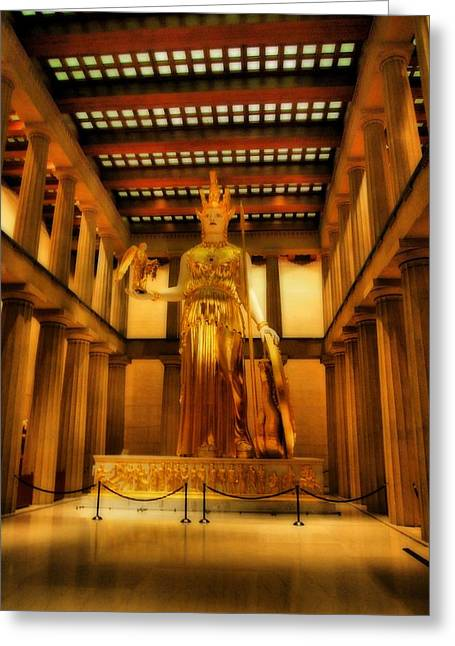 Nashville Tennessee Greeting Cards - Athena Parthenos Greeting Card by Dan Sproul