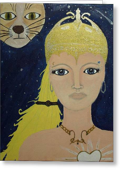 Warrior Goddess Greeting Cards - Athena Warrior  Greeting Card by Marie Tucker