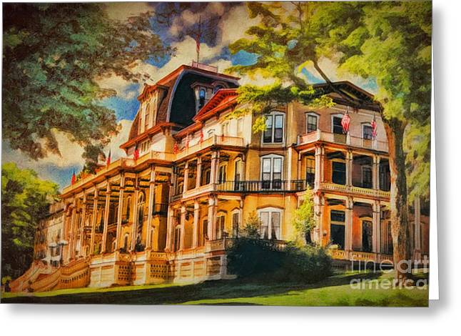 Athenaeum Hotel - Chautauqua Institute Greeting Card by Lianne Schneider