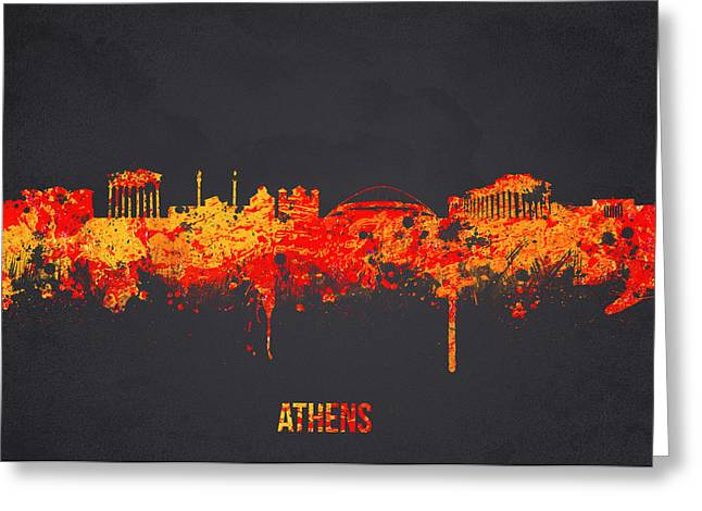 Acropolis Greeting Cards - Athens Greece Greeting Card by Aged Pixel
