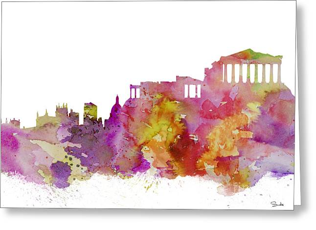 Athens Greeting Cards - Athens Greeting Card by Luke and Slavi