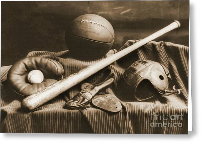 Athletic Equipment 1940 Greeting Card by Padre Art