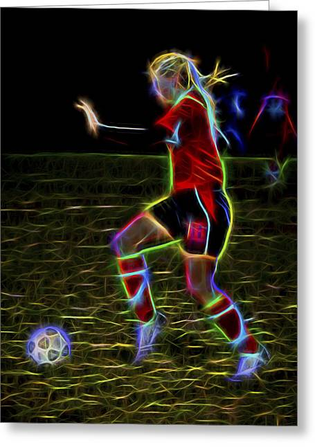 Dribble Greeting Cards - Athletic Greeting Card by Kelley King