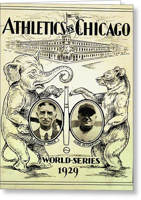 Athletics Vs Chicago 1929 World Series Greeting Card by Digital Reproductions