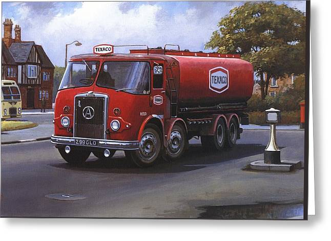 1960 Paintings Greeting Cards - Atkinson tanker Greeting Card by Mike  Jeffries