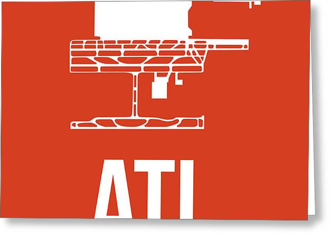 ATL Atlanta Airport Poster 3 Greeting Card by Naxart Studio