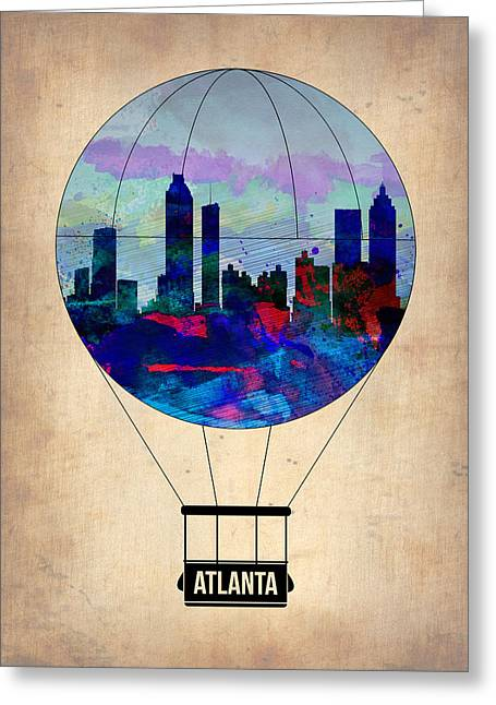 Plane Greeting Cards - Atlanta Air Balloon  Greeting Card by Naxart Studio