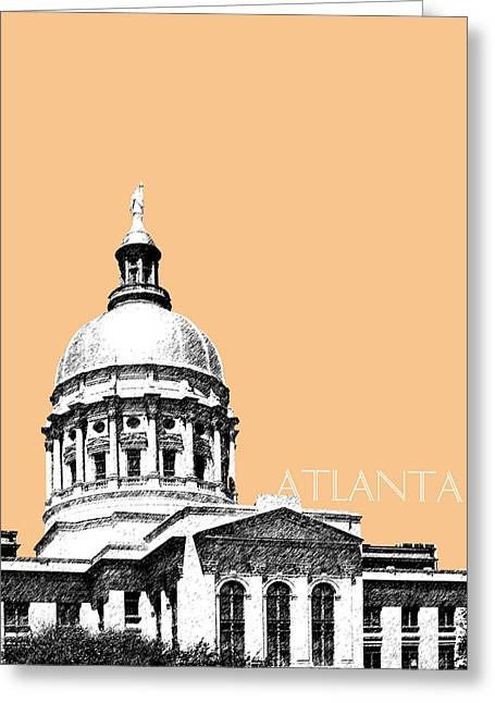 Wheat Art Greeting Cards - Atlanta Capital Building - Wheat Greeting Card by DB Artist