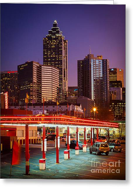 Highway Greeting Cards - Atlanta Drive-In Greeting Card by Inge Johnsson