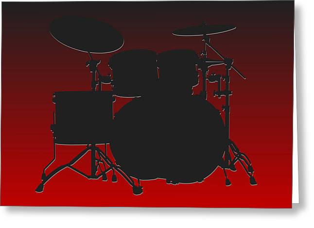 Drum Greeting Cards - Atlanta Falcons Drum Set Greeting Card by Joe Hamilton