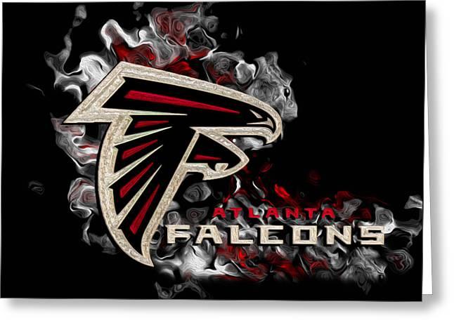 National Football League Greeting Cards - Atlanta Falcons Greeting Card by Jack Zulli
