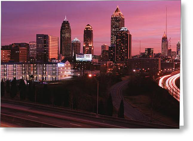 Headlight Greeting Cards - Atlanta, Georgia, Usa Greeting Card by Panoramic Images