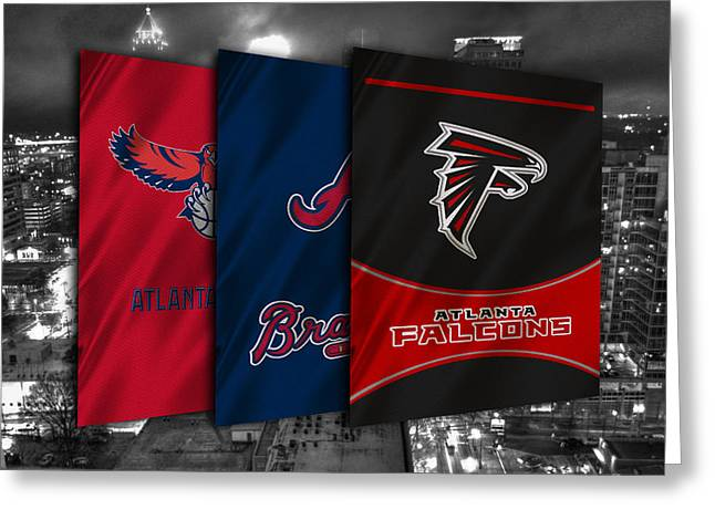 Atlanta Sports Teams Greeting Card by Joe Hamilton