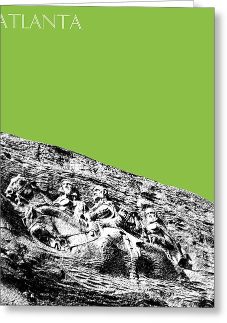 Color Green Greeting Cards - Atlanta Stone Mountain Georgia - Apple Green Greeting Card by DB Artist