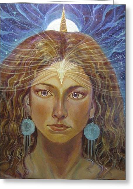 Inner Self Paintings Greeting Cards - Atlantia Greeting Card by Vera Atlantia