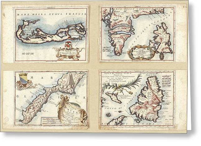 Atlantic And Arctic Islands Greeting Card by Library Of Congress, Geography And Map Division