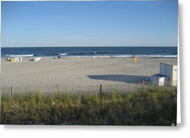 Tan Greeting Cards - Atlantic City - 12122 Greeting Card by DC Photographer
