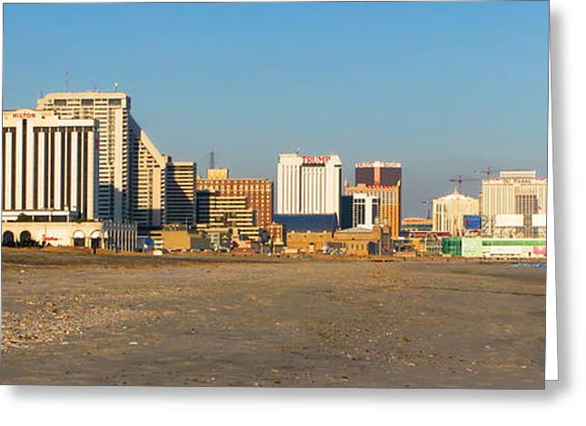 Atlantic Greeting Cards - Atlantic City at Sunset Greeting Card by Olivier Le Queinec