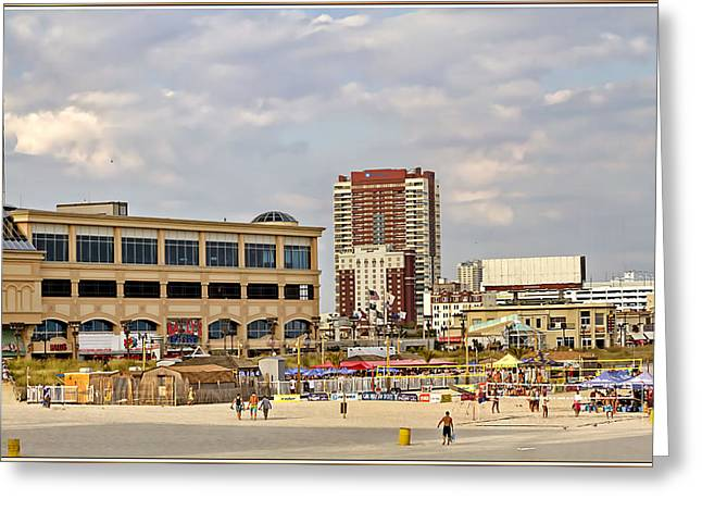 Creative People Greeting Cards - Atlantic City Boardwalk Greeting Card by Geraldine Scull