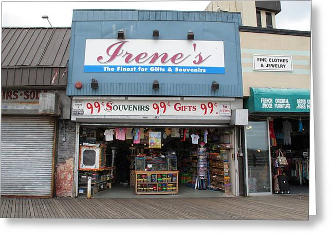 Seedy Greeting Cards - Atlantic City New Jersey - Boardwalk Greeting Card by Frank Romeo