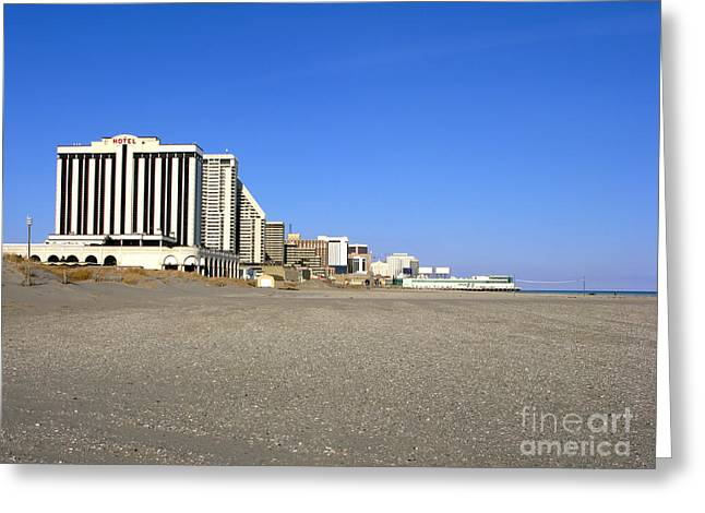 Atlantic Beaches Greeting Cards - Atlantic City New Jersey Greeting Card by Olivier Le Queinec