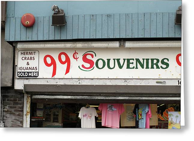 T Shirts Greeting Cards - Atlantic City New Jersey - Souvenir Store Greeting Card by Frank Romeo