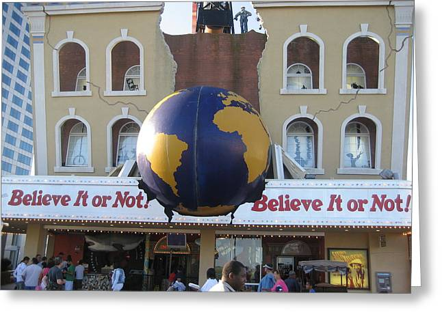 Different Greeting Cards - Atlantic City - Ripleys Believe It Or Not - 01139 Greeting Card by DC Photographer