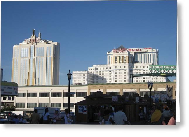 Games Photographs Greeting Cards - Atlantic City - Trump Taj Mahal Casino - 12123 Greeting Card by DC Photographer