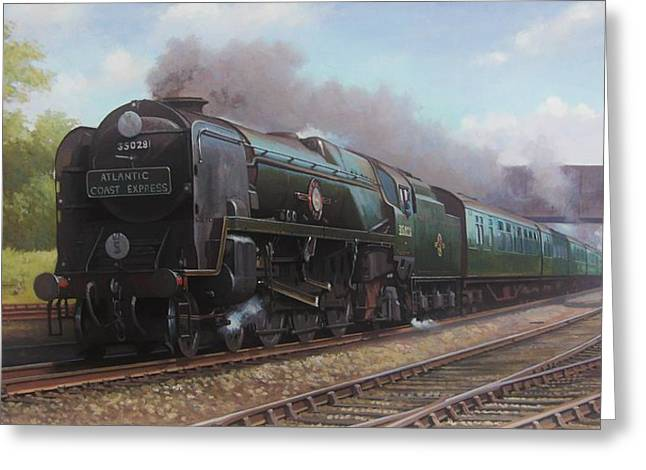 Express Paintings Greeting Cards - Atlantic Coast Express Greeting Card by Mike  Jeffries
