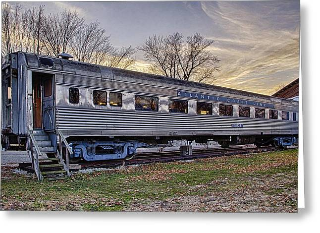 Recently Sold -  - Sunset Framed Prints Greeting Cards - Atlantic Coast Line 201 Greeting Card by Michael J Samuels