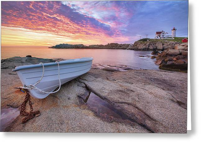 New England Lights Greeting Cards - Atlantic Dawn Greeting Card by Eric Gendron