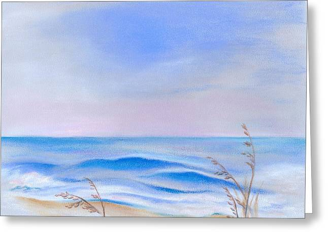 Atlantic Beaches Pastels Greeting Cards - Atlantic Evening Greeting Card by MM Anderson