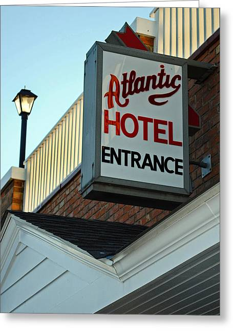 Carnival Spirit Greeting Cards - Atlantic Hotel Greeting Card by Skip Willits