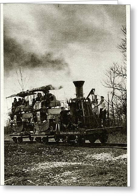 Atlantic Locomotive Greeting Card by Cci Archives