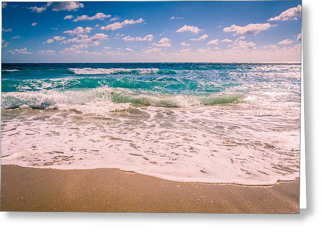 Atlantic Beaches Greeting Cards - Atlantic Ocean in the Morning Greeting Card by Anthony Doudt