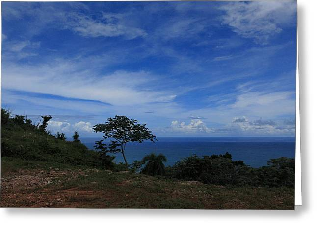 Seaside Greeting Cards - Atlantic Ocean View from HWY 5 Dominican Republic Greeting Card by Andrei Filippov