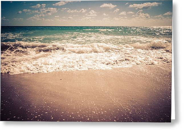 Atlantic Beaches Greeting Cards - Atlantic Ocean Waves Greeting Card by Anthony Doudt