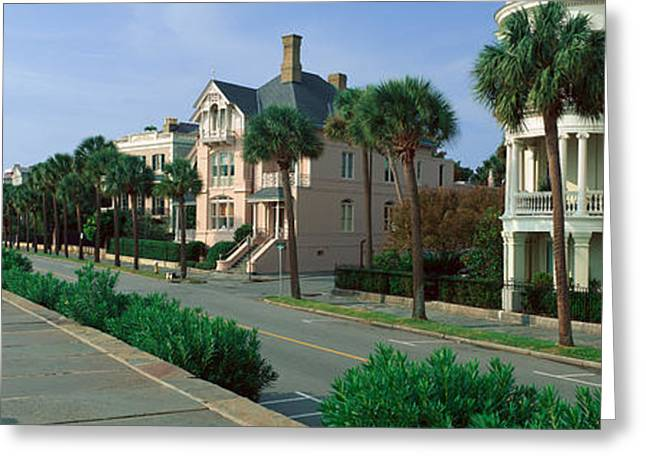 Old South Greeting Cards - Atlantic Ocean With Historic Homes Greeting Card by Panoramic Images