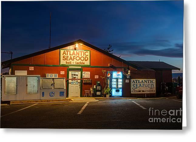 Light Tackle Greeting Cards - Atlantic Seafood at Twilight Fernandina Beach Florida Greeting Card by Dawna  Moore Photography