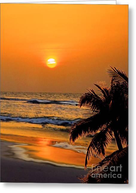 Atlantic Sun Rising Greeting Card by Kathy Baccari