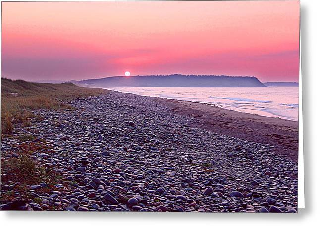 Atlantic Sunrise Greeting Card by George Cousins
