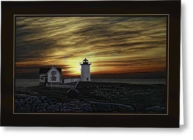 Cape Neddick Greeting Cards - Atlantic Sunrise Greeting Card by Ronald Bookwalter