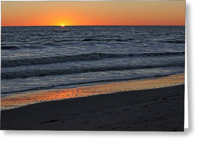 Sunset Posters Greeting Cards - Atlantic Sunset I Greeting Card by Suzanne Gaff