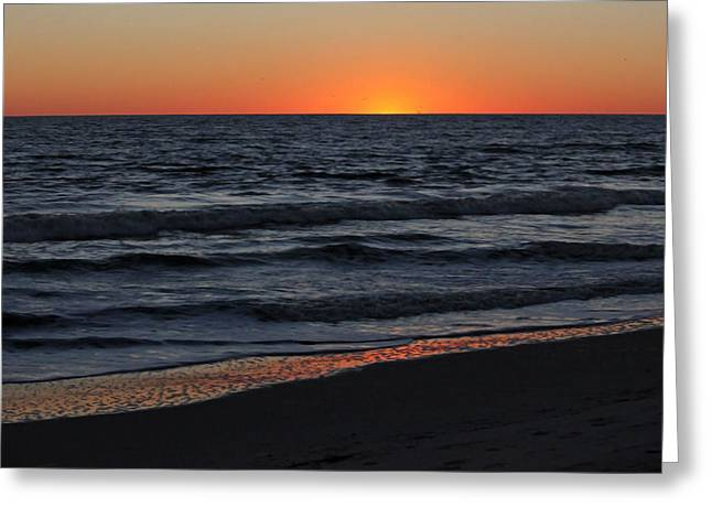 Sunset Posters Greeting Cards - Atlantic Sunset II Greeting Card by Suzanne Gaff