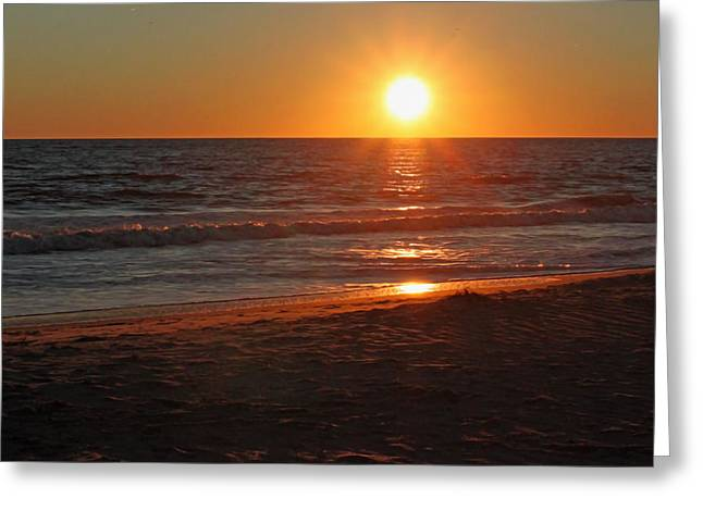 Sunset Posters Greeting Cards - Atlantic Sunset V Greeting Card by Suzanne Gaff