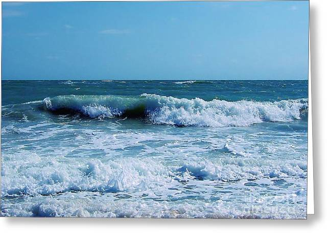 Best Ocean Photography Greeting Cards - Atlantic - Beach - Waves Greeting Card by D Hackett