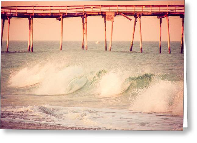 Atlantic Waves Greeting Card by Mark Hazelton