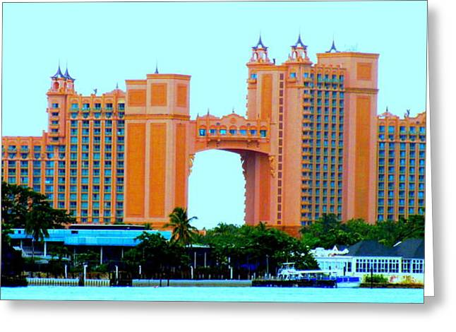 Atlantis Greeting Cards - Atlantis Bahamas Greeting Card by Randall Weidner